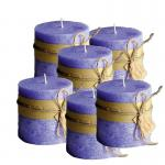 Frost Candle Stumpenkerze 10 cm Durchmesser, 10 cm Höhe, Morning 6-er Set
