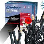 X4-LIFE Outdoor LED Lichterkette warmweiß 10 m mit 100 LEDs und Timerfunktion
