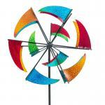 Gartenstecker Windrad Flag  Dekoration Garten Stab Metall 190 cm hoch