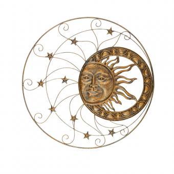 Wanddekor Sonne Metall D = 90 cm