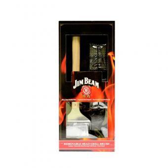 Jim Beam® BBQ Grillbürste mit 2 Wechselaufsätzen