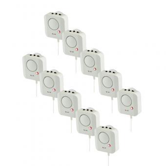 10 x X4-Life Security Longlife Wasseralarm Wasser-Alarm Alarmmelder