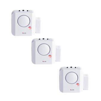 3 x X4-Life Security Longlife Tür- und Fensteralarm Einbruch Signal