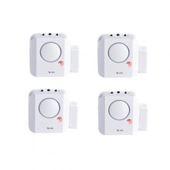 4 x X4-Life Security Longlife Tür- und Fensteralarm Einbruch Signal