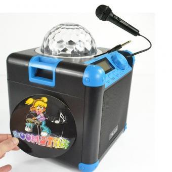 X4-Tech Bobby Joey Boomstar mit Discolicht Bluetooth + Bonus Mikrofon