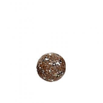 Dekokugel Blüte 10 cm Metall Dunkelbraun