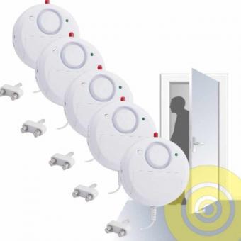 5 x Alarm Wasser-Alarm Wasser Überschwemmung Wassermelder Leitungsbruch