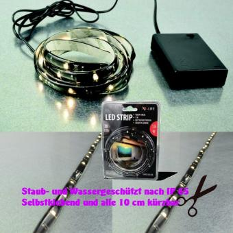 X4-Life LED-Strip 1 m warmweiss  mit Batterie kürzbar LED Beleuchtung