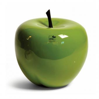 Dekoapfel Apfel Fiberglas Grün D 20 cm, H 18 cm