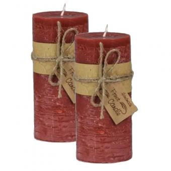 14,5 cm Höhe Signal Red 4-er Set Frost Candle Stumpenkerze 6,5 cm Durchmesser