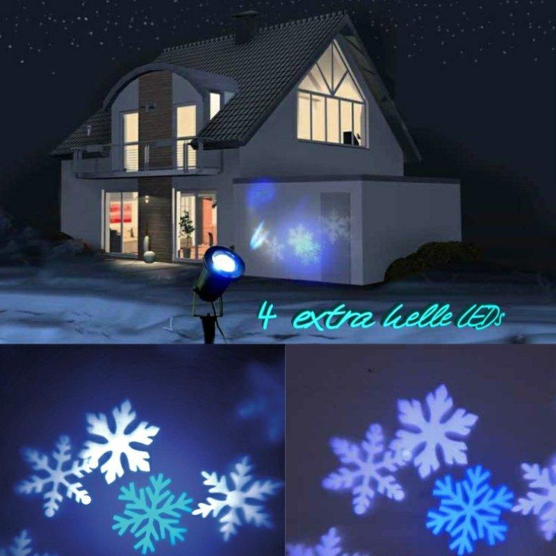 cornbay shop x4 life led strahler outdoor schneeflocke. Black Bedroom Furniture Sets. Home Design Ideas