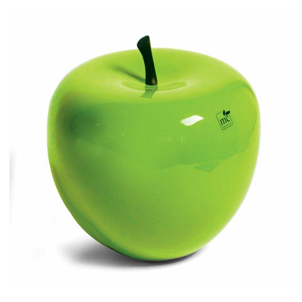 Dekoapfel Apfel Fiberglas Limette Grün D 33 cm, H 31 cm