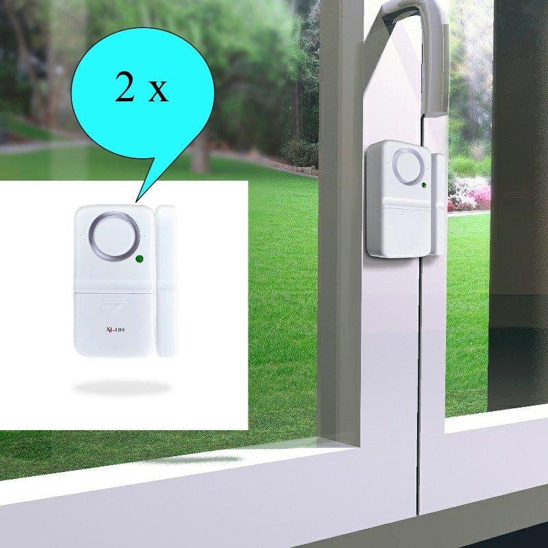 2 x x4 life security t r und fensteralarm einbruch diebstahl schutz alarm ebay. Black Bedroom Furniture Sets. Home Design Ideas